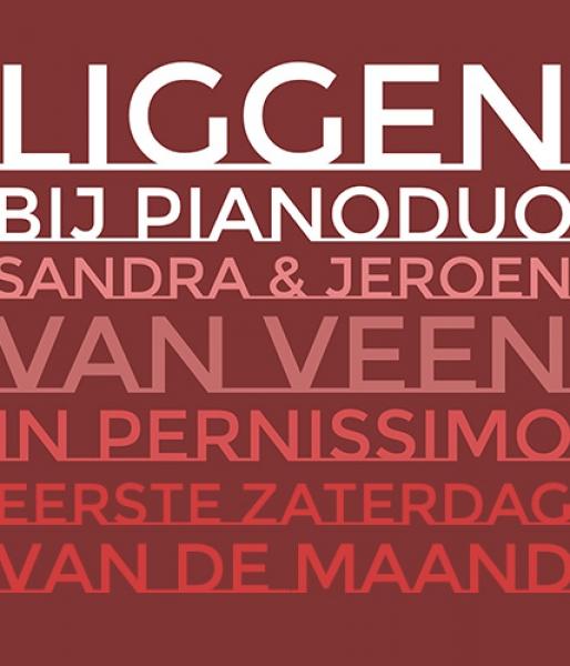 Liggen bij Pianoduo Sandra & Jeroenin Pernissimo1e zaterdag van de maand 20.00u